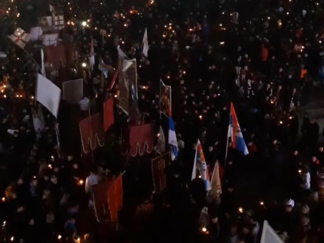 (ВИДЕО) Величанствена литија у Подгорици!