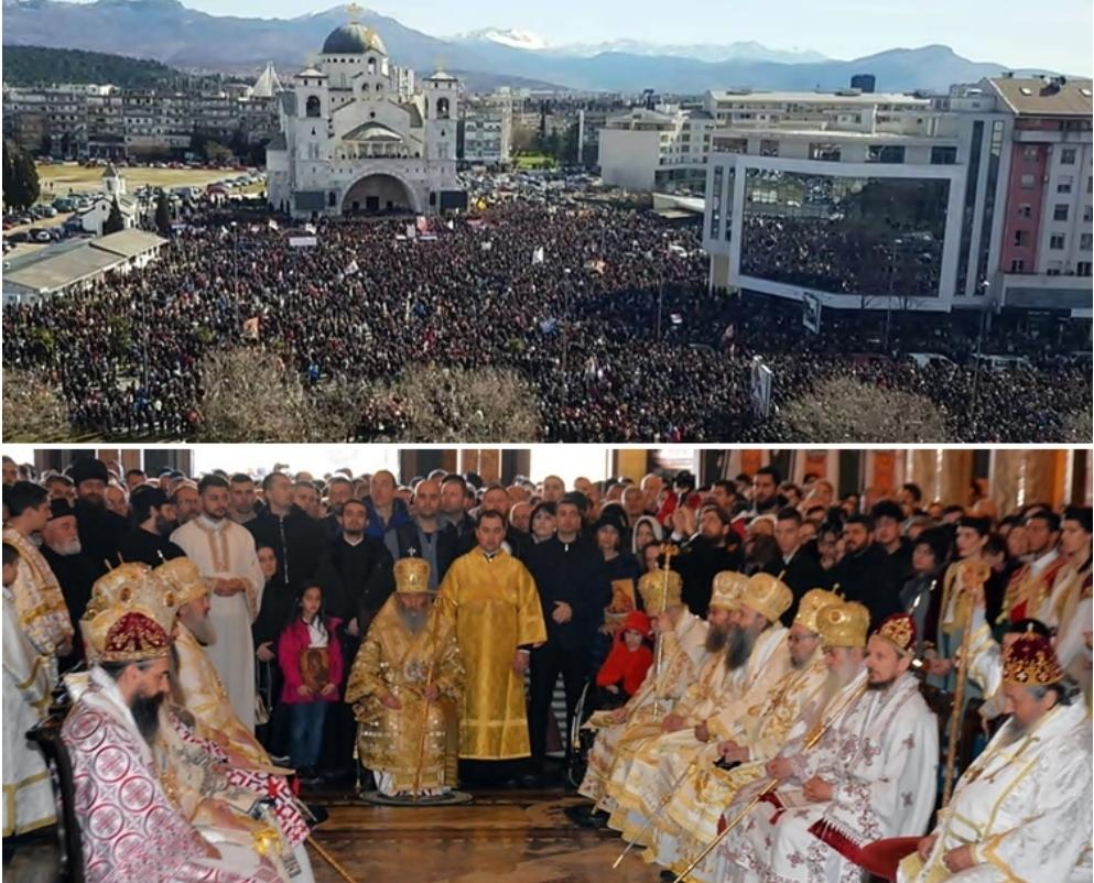 Преко 100 хиљада ВЈЕРНИКА на молитвеној литији у Подгорици