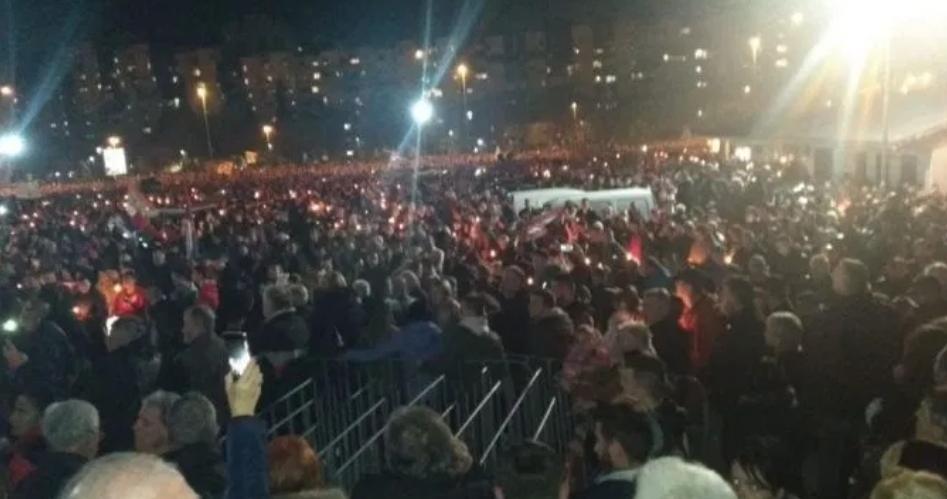 У Подгорици вечерас 60000 људи.