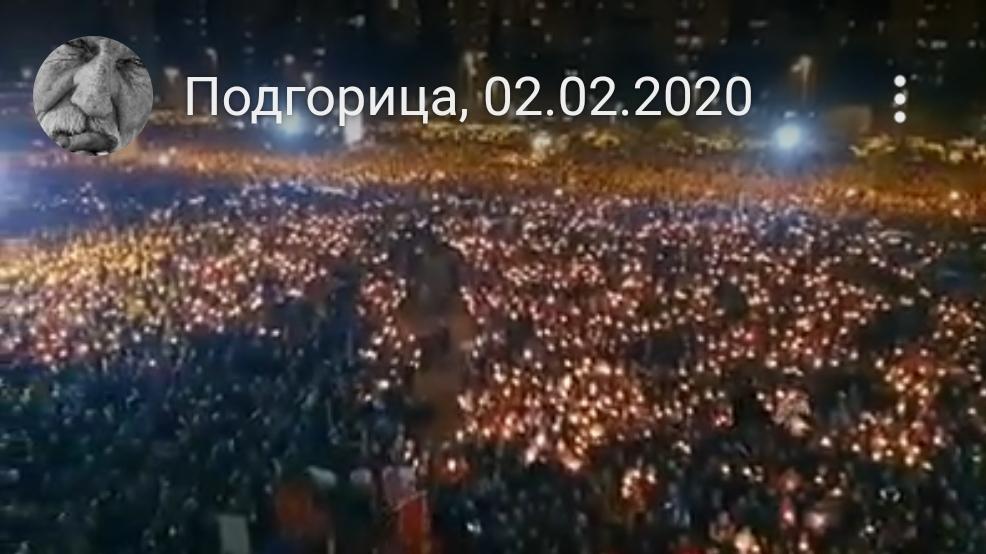 Најмасовније окупљање у историји Подгорице! (ВИДЕО)