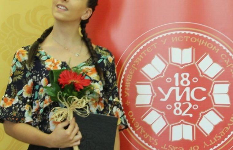 Александри Ијачић признање за најбољег студента ФПМ у Требињу