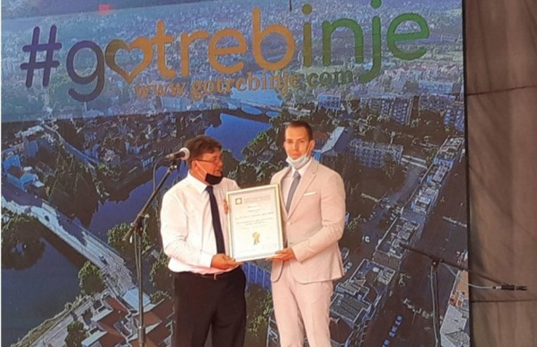 """Награда """"Звијезда туризма БиХ"""" Туристичкој организацији Требиња"""