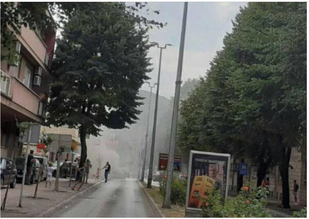 Током вожње запалио се аутомобил у центру Требиња
