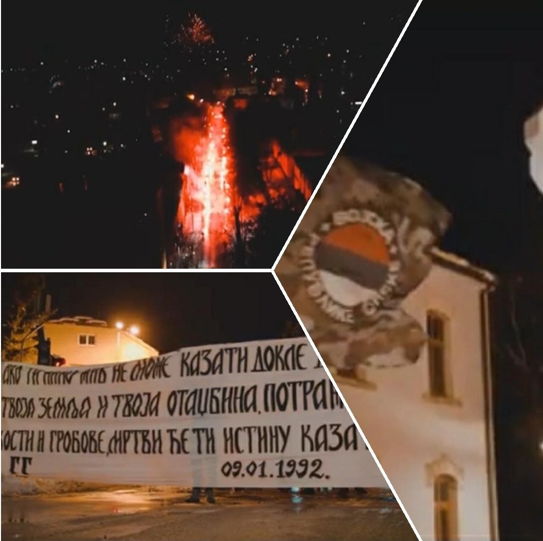 Гробари Гацко: Бакљадом и ватрометом у част Републике Српске
