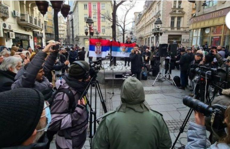 Протест испред САНУ: Да ли је Академија наука српска, ако Косово није